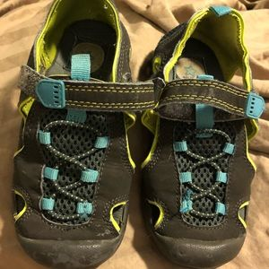 3/$10 Child of Mine sandals grey, blue, green